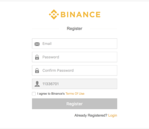 How to register binance
