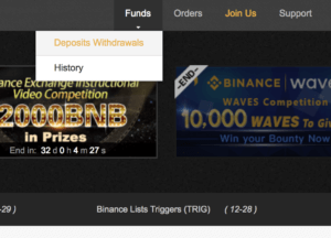 How to transfer bitcoin to binance