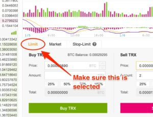 How to buy/sell at Binance