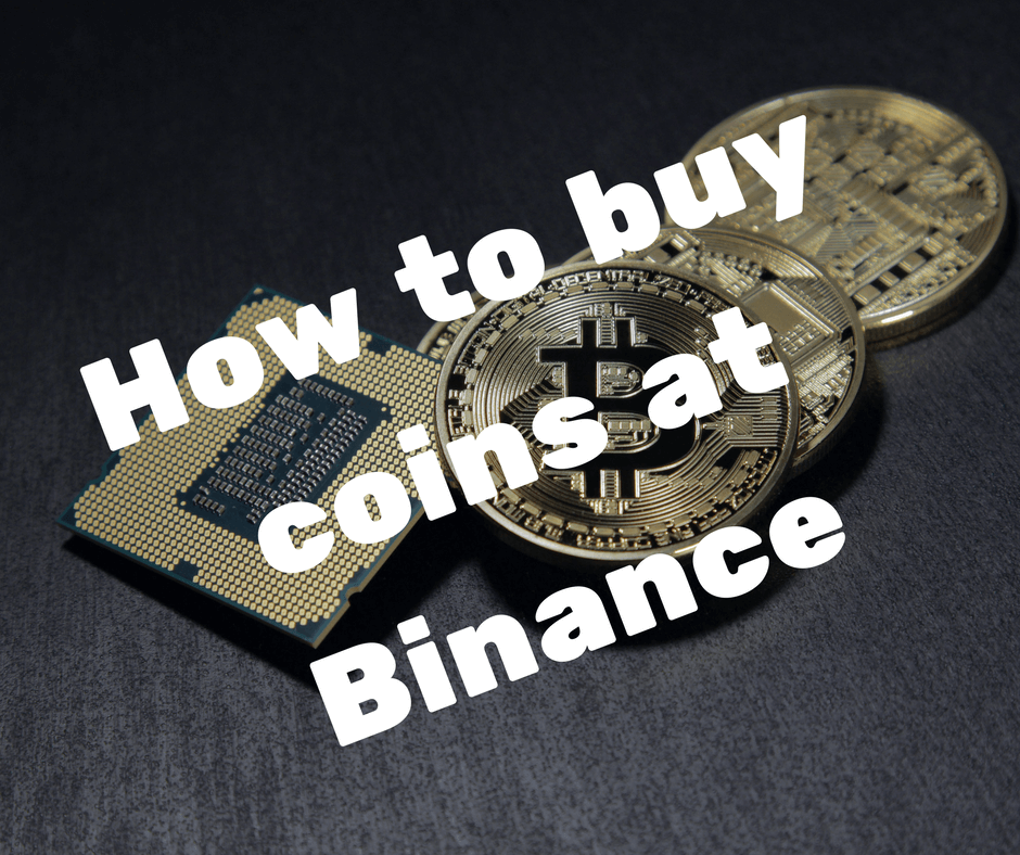 How to buy coins at Binance