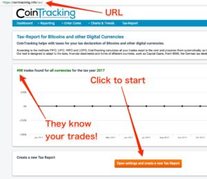 how to file tax with cointracking